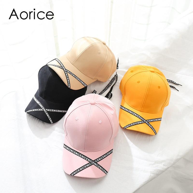 Aorice Cf960 Hut Weibliche Neue Sonnenschutz Baseball Kappe Trend Mode Brief Langen Riemen Straße Hip Hop Hut