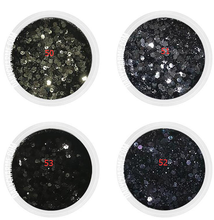 лучшая цена 1 Box Chunky Glitter Nail Sequins Iridescent Flakes Ultra-thin Tips Colorful Mixed Paillette Festival Rave Glitter Face Hair