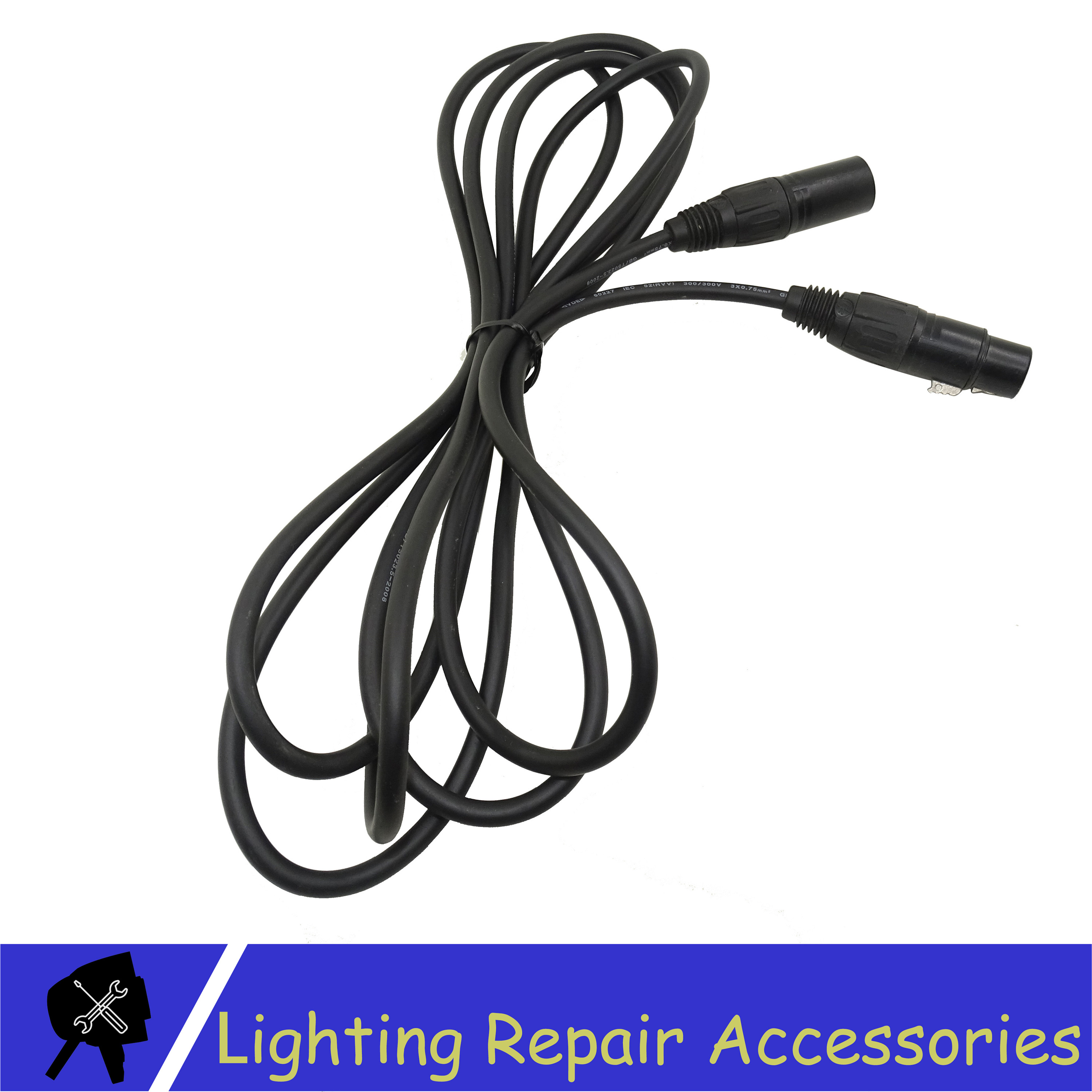 3 PIN DMX Cable 1M/5M/10M/15M/20M Black Connector Signal Line Cable Used For Led Par Stage Lights Equipment