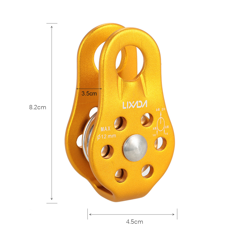 Image 5 - Lixada 20KN Fixed Gear Mountaineering Rock Fixed Single Pulley Rock Climbing Rescue High Altitude Carriage Single Pulley-in Outdoor Tools from Sports & Entertainment