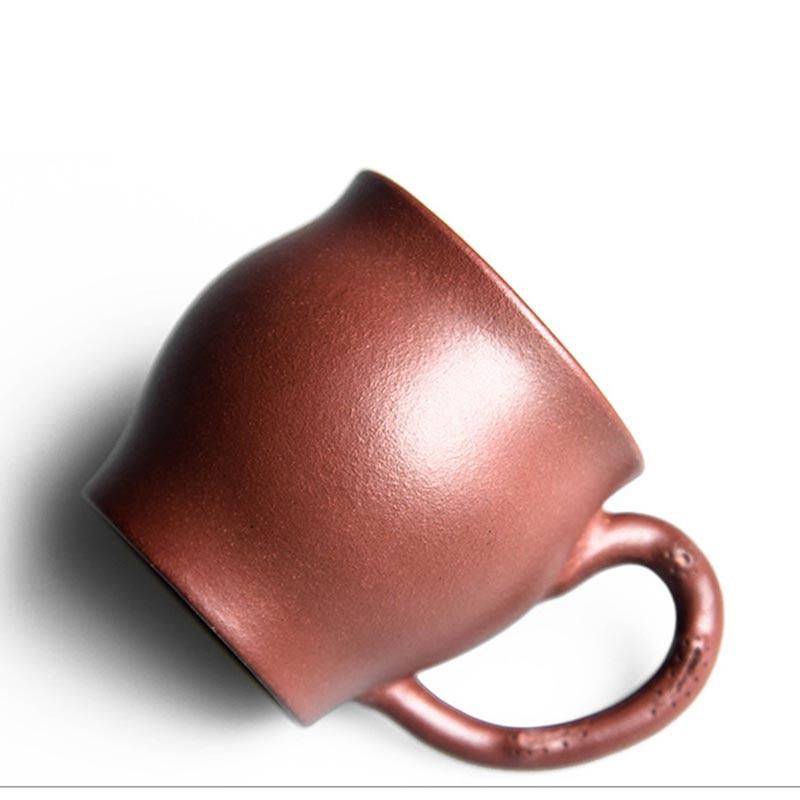 100ML Yixing Purple Clay Mini Handgrip Teacup Office Kung Fu Tea Set Drinkware Raw Ore Zisha Vintage Oolong Puer Tea Cups Gifts