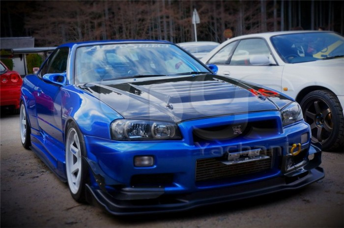 1999-32002 Nissan Skyline R34 GTR Auto-Select Front Diffuser Lip with Undertray CF (9)