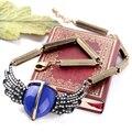 Новая Мода Vintage Angel Wings Ожерелья Воротник Choker Горный Хрусталь Кулон Ожерелье Для Женщин Ювелирные Изделия Шарма