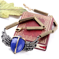 New Fashion Vintage Angel Wings Necklaces Collar Choker Rhinestone Pendant Necklace For Women Charm Jewelry