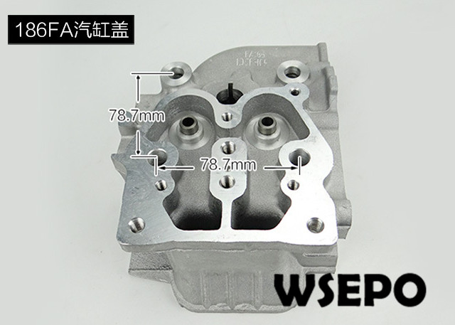 Top Quality! Cylinder Head for 186FA 9HP Air Cooled 04 stroke Diesel Engine, 5.5KW Diesel Generator PartsTop Quality! Cylinder Head for 186FA 9HP Air Cooled 04 stroke Diesel Engine, 5.5KW Diesel Generator Parts