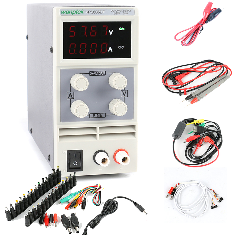 KPS 605DF Four display laboratory power supply Mini Switching Regulated Adjustable DC Power Supply 60V 5A