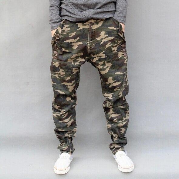 ¡ Caliente! pantalones harem Basculador Emoji Hombres Pantalones de Camuflaje Al Aire Libre Militar Ocasional Masculina más tamaño cónicos floja Elástico pantalones Lápiz pantalones vaqueros