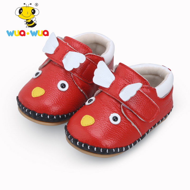 Wua Wua Brand Baby Girl Boy First Walkers Genuine Leather Soft Newborn Shoes Cartoon 0-1 year Infant Slippers Moccasins Baby