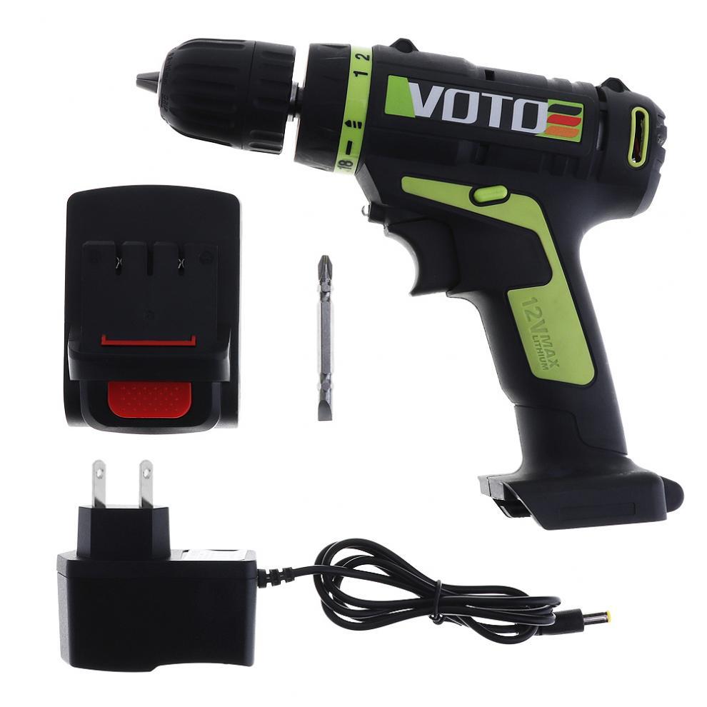 VOTO AC 100-240 V batterie au Lithium sans fil 12 V tournevis électrique avec interrupteur de réglage de Rotation pour la manipulation des vis/Punchin - 2