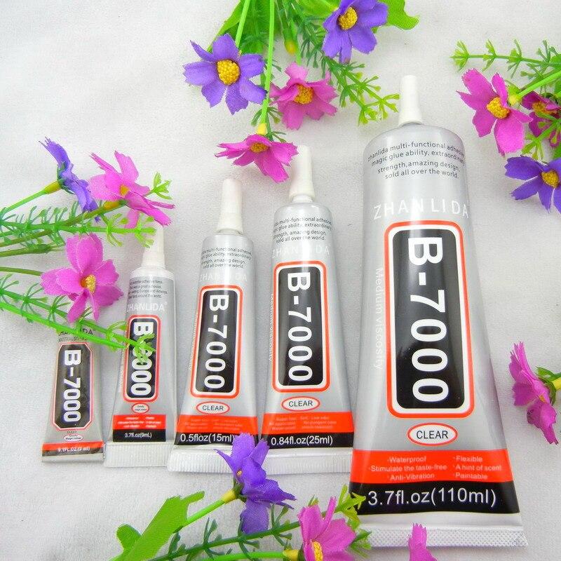 Standard Gratuite B7000 3 ml 15 ml 25 ml 110 ml Multi-but liquide Super Adhésif Colle B-7000 Pour strass Perles Diy Outil