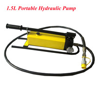 1.5L Portable Hydraulic Pump with Pressure Gauge Manual Hydraulic Hand Pump Ultra high Pressure Pump CP 700B