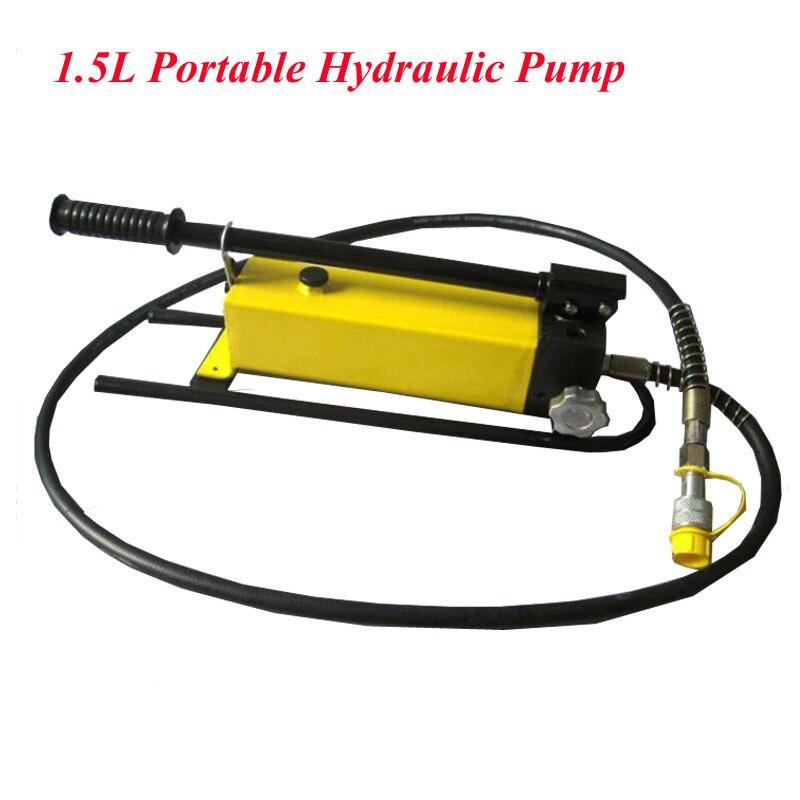Pompe hydraulique portative de 1.5L avec le manomètre pompe à main hydraulique manuelle pompe à Ultra-haute pression CP-700B