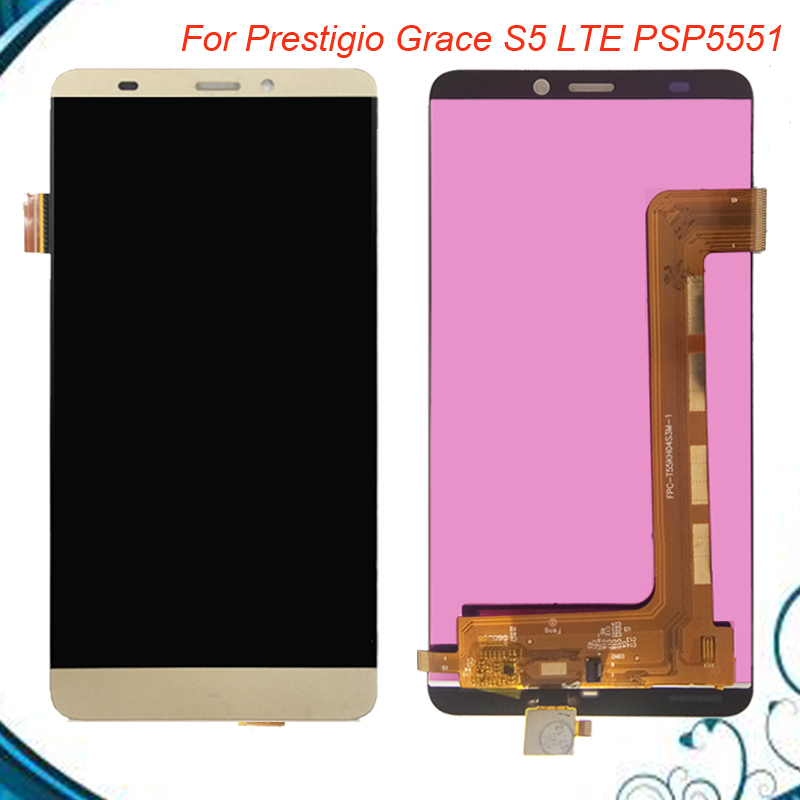 5.5 For Prestigio Grace S5 LTE PSP5551 Duo PSP 5551 DUO LCD Display Touch screen digitizer panel sensor lens glass Assembly
