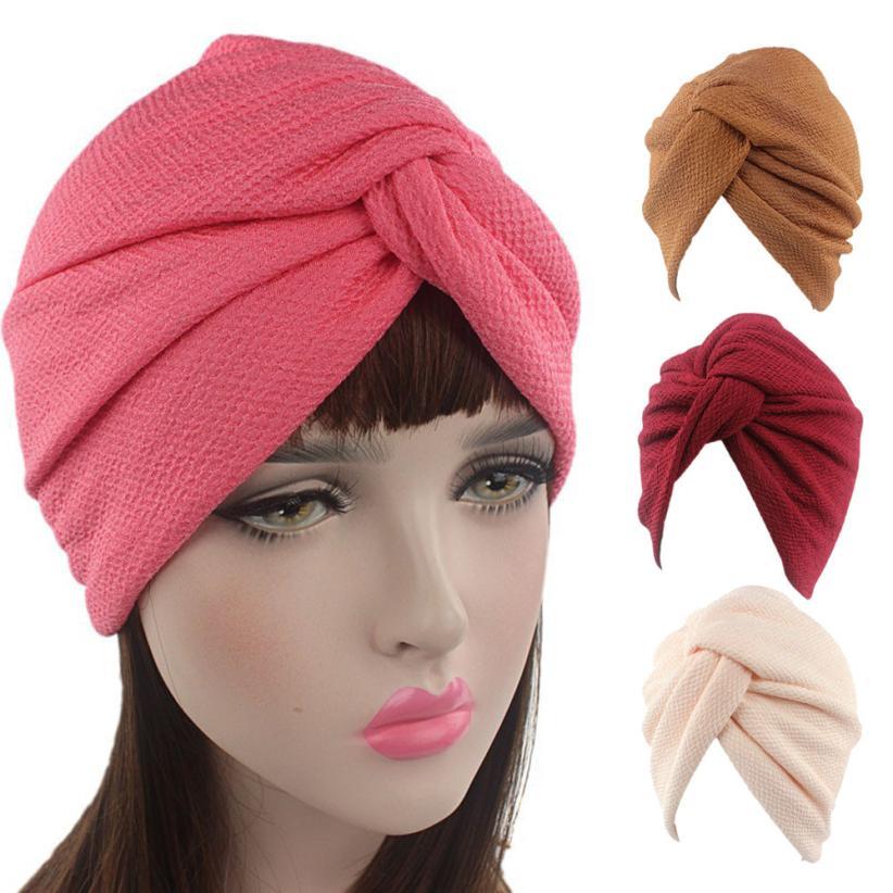 Women New Elastic Cap Turban Muslim Cancer Chemo Hat Beanie Scarf Turban Head Wrap High Quality breathable mesh turban