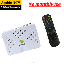Lifetime Arabic Iptv With Backlight Keyboard Support 590 Live Stream Sports Include French Africa Turkey And Movies Set Top Box(China)