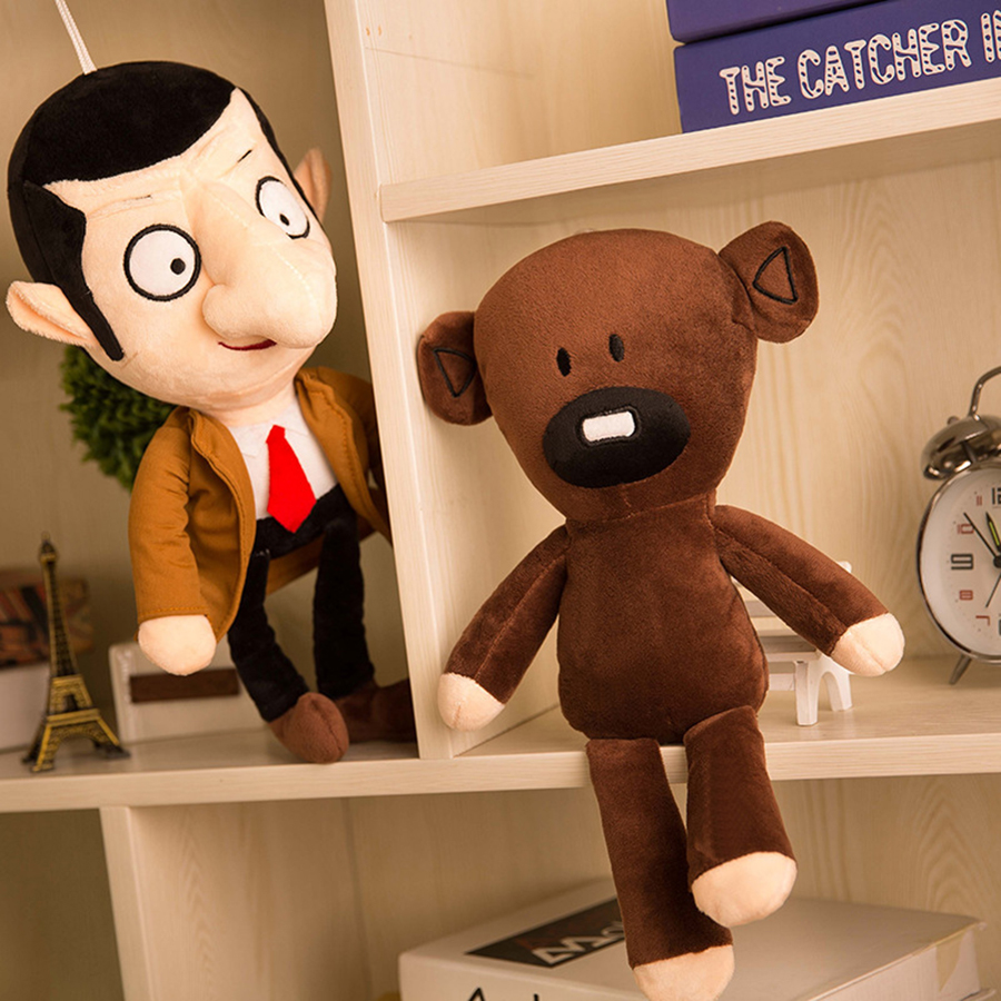 1pcs 30cm Cute Mr Bean and Teddy Bear Plush Toy Mr Doll Mr.Bean Toys For Children Birthday Dolls Gift Knuffels Dieren N047 lovely 22cm mr bean teddy bear plush doll