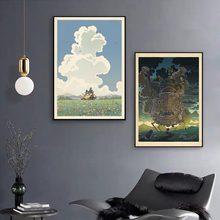 Wall Art na płótnie zdjęcia Home Decoration mój sąsiad Totoro Anime Nordic Style plakat HD drukowane modułowe malarstwo salon