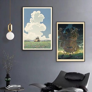 Wall Art Canvas Pictures Home Decoration My Neighbor Totoro Anime Nordic Style Poster HD Printed Modular Painting Living Room(China)