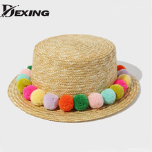 76973f9444b  Dexing summer trendy natural straw hat women boater hat beach sun hat for women  girl sun protection hat