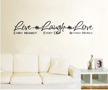 Live Love Laugh Home Decor Living Room Decoration Wall Art Decals Sticker Wall  Decoration Bedroom Wall Sticker Part 79