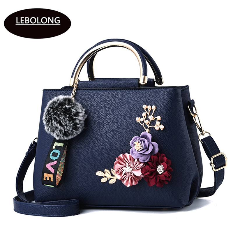 2019 New color flowers shell Women's tote Leather Clutch Bag Ladies Handbags Brand Women Messenger Bags Sac A Main Femme Bags