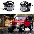 2 Pcs/par 4 polegada nevoeiro levou lente luz daymaker motocicleta 4 polegadas rodada Levou luz de nevoeiro DRL Para Harley Jeep Wrangler Jk
