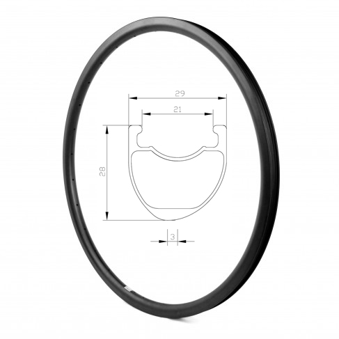 DEERACE Асимметричная гравия/Велокросс 21 мм 29 мм 28 мм углерода довод бескамерные велосипеда диска колесные диски тормозного диска велосипед об