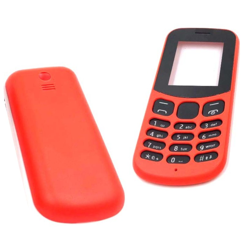 For <font><b>Nokia</b></font> <font><b>130</b></font> 2017 New Full Complete Mobile Phone Housing <font><b>Cover</b></font> Case With English Keypad Battery <font><b>cover</b></font> image
