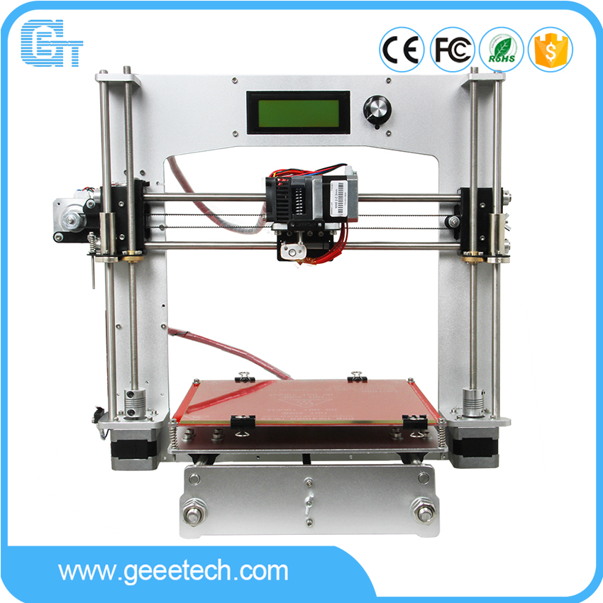 Geeetech Reprap Prusa I3 3D Printer Full Aluminum Frame High Precision DIY Printing Kits High Resolution LCD anet a2 high precision desktop plus 3d printer lcd screen aluminum alloy frame reprap prusa i3 with 8gb sd card 3d diy printing
