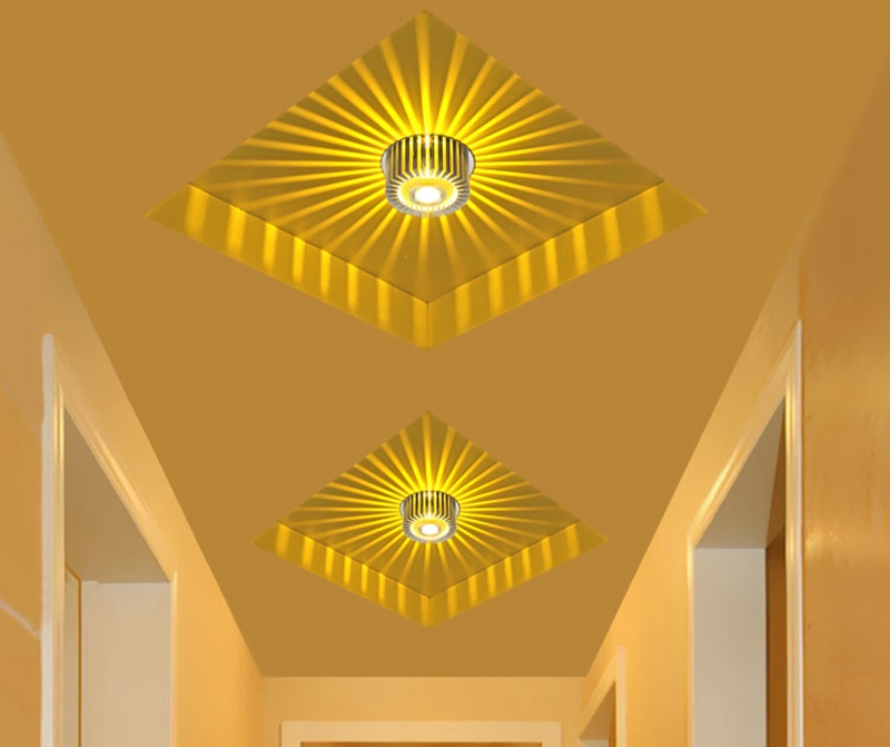 Modern LED Ceiling Light 3W Wall Sconce For Hotel KTV Art Gallery Decoration Balcony Lamp Porch Light Corridors Light Fixture (8)
