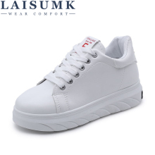 2019 LAISUMK Breathable Leather Women Shoes Summer Causal Comfortable Sneakers Brand Flat Female
