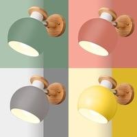 simple and colorful indoor lighting home study restaurant children's bedroom bedroom bedside stairs bathroom macaron wall lamp