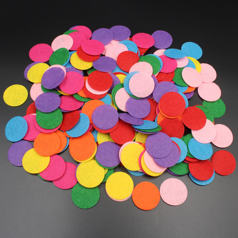 100pcs Artificial Non Woven Fabric Toys Round DIY Eco-Friendly Bundle For Scrapbook Patches Crafts Toys For Children Kids