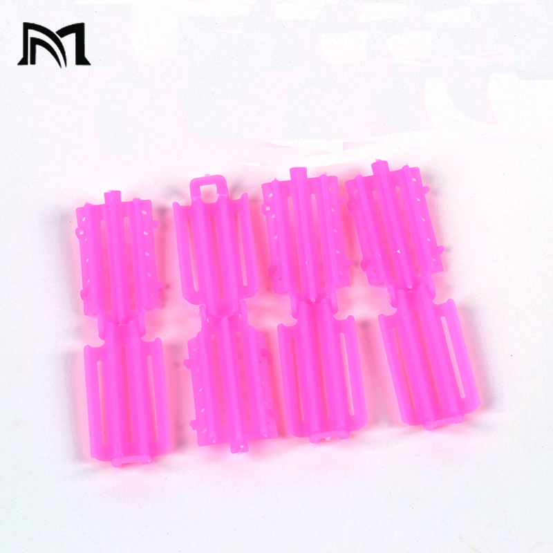 Купить с кэшбэком Hair Clips & Pins 45pcs/ Bag Pink Hair Clips For Girls Wave Perm Rod Corn Curler Maker DIY Beauty Hairdressing Styling Tools A8