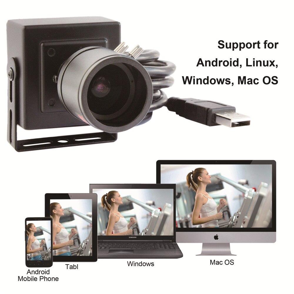 ELP 2 mégapixels full HD 1080 P faible éclairage H.264 caméra vidéo usb avec objectif varifocal 2.8-12mm - 5