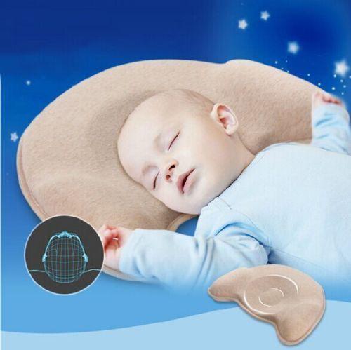 2016 novo bebê travesseiro de espuma de memória - cabeça chata café suave almofada de dormir infantil