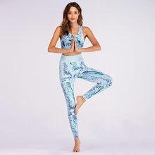 bb44059a5aad Juego del deporte camuflaje formación impresión Top pantalones ropa  deportiva al aire libre Fitness Running ropa mujer Set