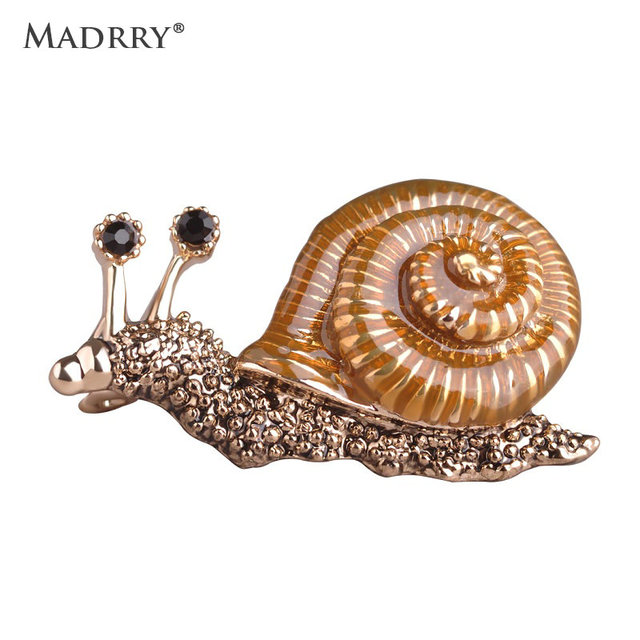 Enamel Esmalte Animal Brooches Cute Pequeno Snails Broches for Kids Lapel Pins Scarf Buckles Dresses Madrry Women Boutonniere
