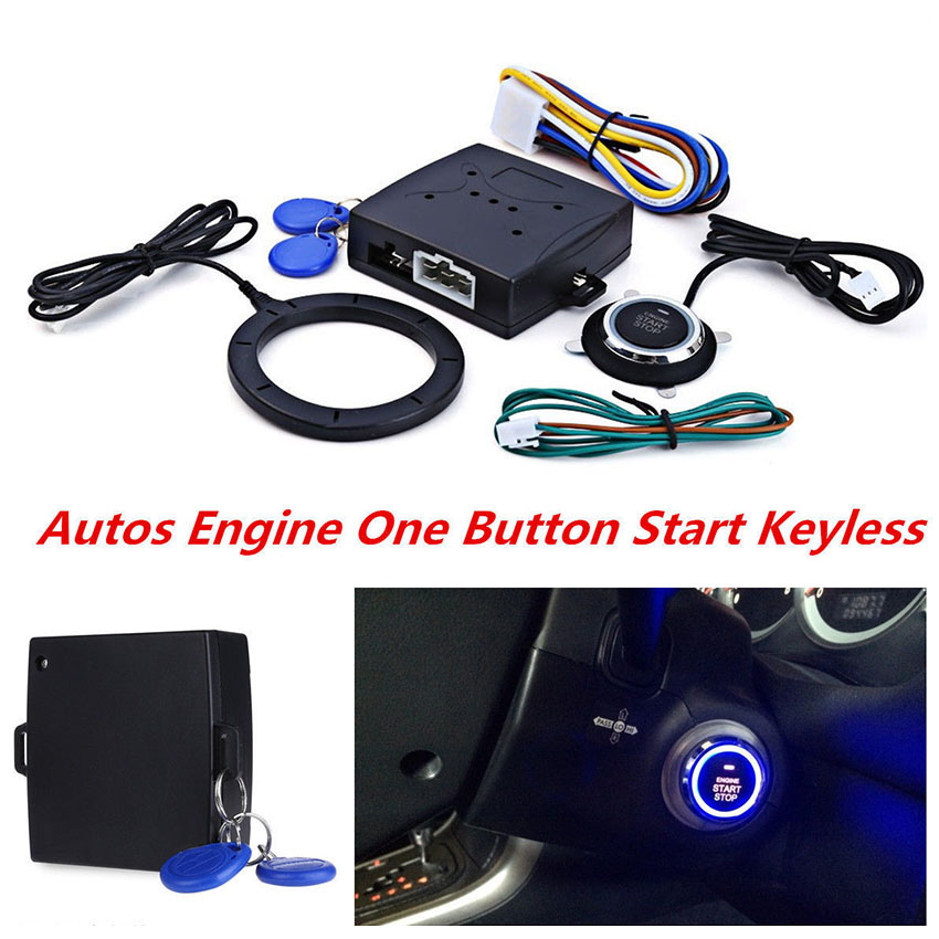 12V Car Engine Push Start Stop Button Auto Ignition Remote Starter for Toyota Ford Peugeot Mercedes Volkswagen Mazda 3 Passat numph платье numph numph 7215820 2buy мультицвет 42