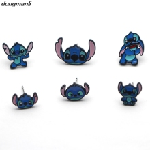 F138 New 1 Pair Cartoon Stitch Earings Women Girl Children Kids Lovely Gifts