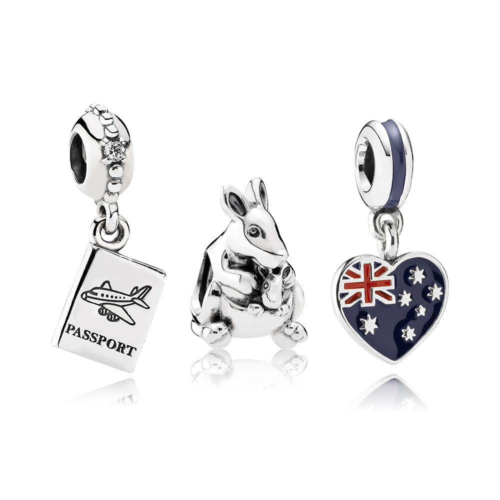 100% 925 Sterling Silver Escape To Australia Charm Bead Set Fit Charm Original Bracelets Jewelry A Set Of Prices