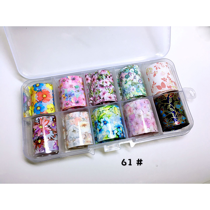 Flowers Lace Series Nail Transfer Foils Sticker Rose Daisies Colorful Starry Paper Adhesive Nail Art Decal 3D Design Manicure in Stickers Decals from Beauty Health