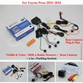 For Toyota Prius 2010~2014 - Car Parking Sensors + Rear View Back Up Camera = 2 in 1 Visual / BIBI Alarm Parking System
