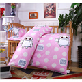 2016 Hot New Arrived Hot Ins crib bed 100% Cotton Baby 3pcs bedding set pillow case+bed sheet+duvet cover without filling
