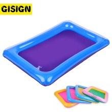 60*45Cm Dynamische Zand Lade Indoor Magie Spelen Zand Kinderen Speelgoed Ruimte Opblaasbare Accessoires Plastic Mobiele Tafel