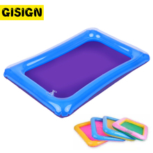60*45cm דינמי חול מגש מקורה קסם לשחק חול ילדי צעצועים מתנפחת שטח אביזרי פלסטיק נייד שולחן