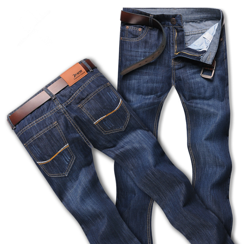 2015 Summer men jeans male loose straight male slim casual long demin trousers plus size free shipping