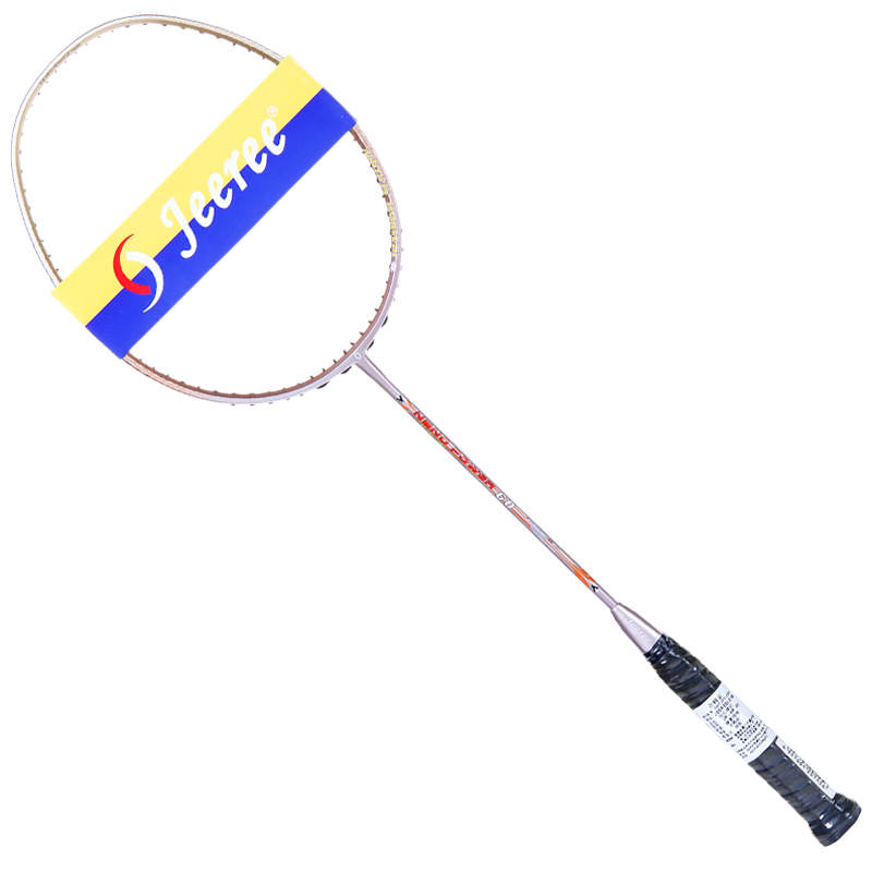 hotgolden offensive and defensive racket with both men and women 24 lbs 100% carbon high elasticity badminton racket ultra-light