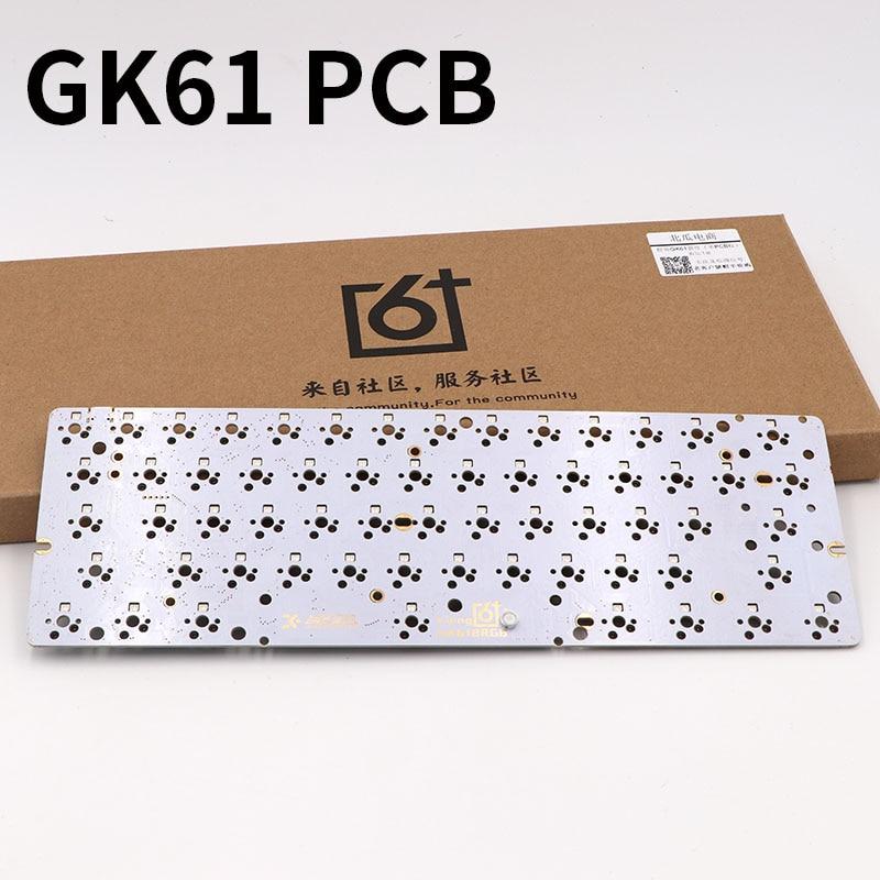 Hotswap Socket Mechanical-Keyboard Gk61 Pcb BGKP 60-% 61KEYS Diy RGB New-Arrival