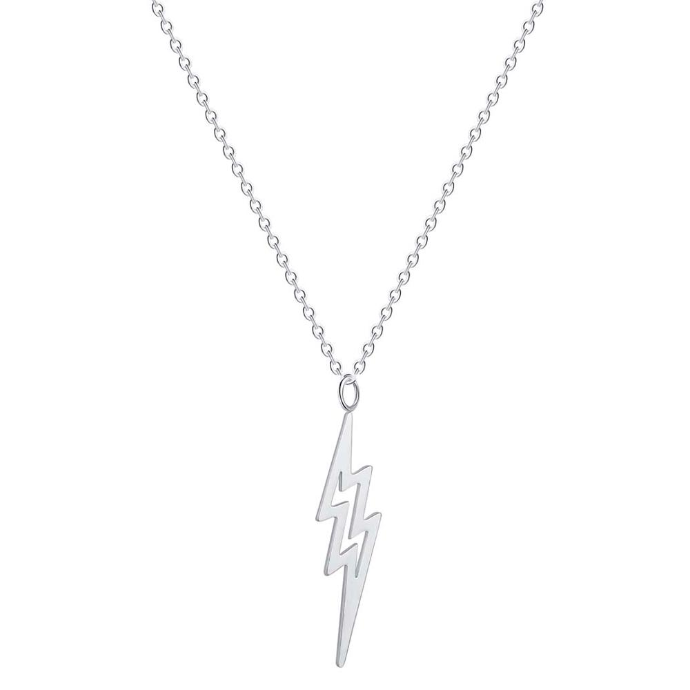Todorova Geometric Delicate Lightning Necklaces for Women Jewelry Tiny Charms Thunder Bolt Pendant Necklace Wedding Gifts in Pendant Necklaces from Jewelry Accessories